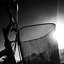 Bicycle Basket In Sunlight