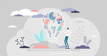 Creative Strategy Vector Illustration. Innovative Flat Tiny Persons Concept