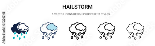 Photographie Hailstorm icon in filled, thin line, outline and stroke style