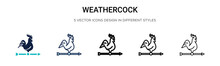 Weathercock Icon In Filled, Th...