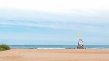 Empty Chicago Beach