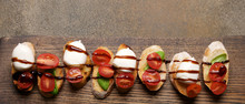 Bruschetta With Tomatoes And M...