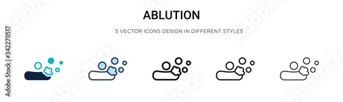 Fotografija Ablution icon in filled, thin line, outline and stroke style