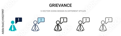 Valokuva Grievance icon in filled, thin line, outline and stroke style