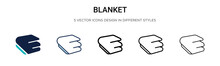 Blanket Icon In Filled, Thin L...