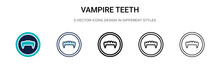 Vampire Teeth Icon In Filled, ...