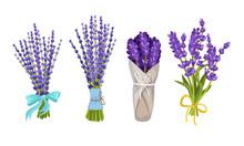 Lavender Floral Twigs Tied Wit...