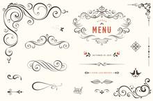 Vector Set Of Ornate Calligrap...