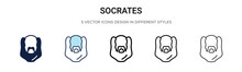 Socrates Icon In Filled, Thin ...