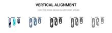 Vertical Alignment Icon In Fil...