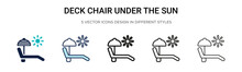 Deck Chair Under The Sun Icon ...