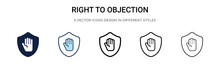 Right To Objection Icon In Fil...