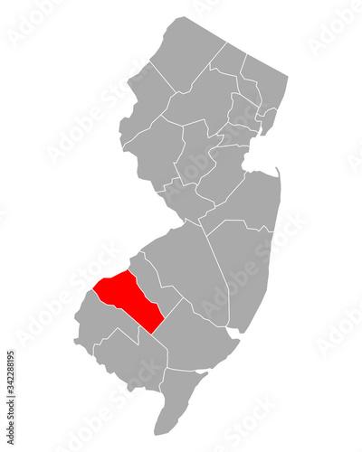 Fotografija Karte von Gloucester in New Jersey