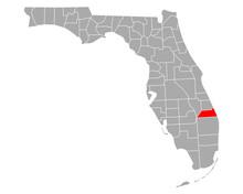 Karte Von Martin In Florida