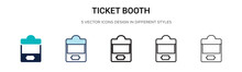 Ticket Booth Icon In Filled, T...