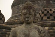 Close-up Of Buddha Sculpture At Borobudur Temple
