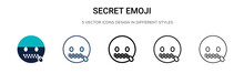 Secret Emoji Icon In Filled, T...
