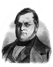 Portrait Of The Count Camillo Benzo Di Cavour, Italy's First Prime Minister In The Old Book The Essays In Newest History, By I.I. Grigorovich, 1883, St. Petersburg
