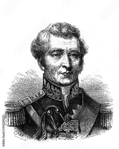 Arthur Wellesley, 1st Duke of Wellington in the old book The Essays in Newest History, by I Canvas Print