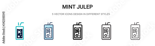 Valokuvatapetti Mint julep icon in filled, thin line, outline and stroke style