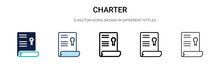 Charter Icon In Filled, Thin L...