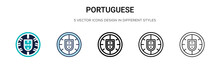 Portuguese Icon In Filled, Thi...
