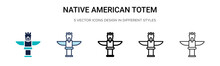 Native American Totem Icon In ...