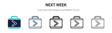 Next Week Icon In Filled, Thin...