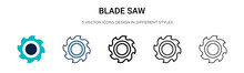 Blade Saw Icon In Filled, Thin...