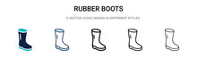 Rubber Boots Icon In Filled, T...
