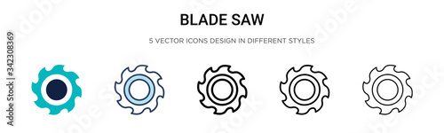 Fotografia Blade saw icon in filled, thin line, outline and stroke style