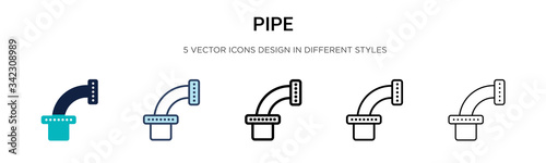 Pipe icon in filled, thin line, outline and stroke style Fototapete