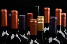 Stacked Wine Bottle Background