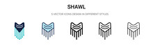 Shawl Icon In Filled, Thin Line, Outline And Stroke Style. Vector Illustration Of Two Colored And Black Shawl Vector Icons Designs Can Be Used For Mobile, Ui, Web