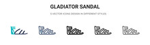 Gladiator Sandal Icon In Fille...
