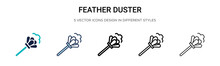 Feather Duster Icon In Filled,...