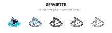 Serviette Icon In Filled, Thin...