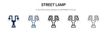 Street Lamp Icon In Filled, Th...