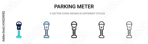Fotografía Parking meter icon in filled, thin line, outline and stroke style