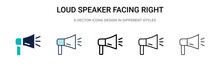 Loud Speaker Facing Right Icon...