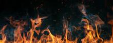 Closeup Of Fire On Black Backg...