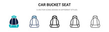 Car Bucket Seat Icon In Filled...