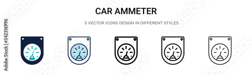 Photo Car ammeter icon in filled, thin line, outline and stroke style