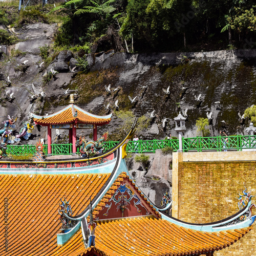 Tablou Canvas The Chin Swee Caves Temple is a Taoist temple in Genting Highlands, Pahang, Mala