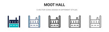 Moot Hall Icon In Filled, Thin...
