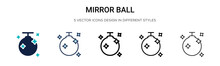 Mirror Ball Icon In Filled, Th...