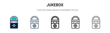 Jukebox Icon In Filled, Thin L...