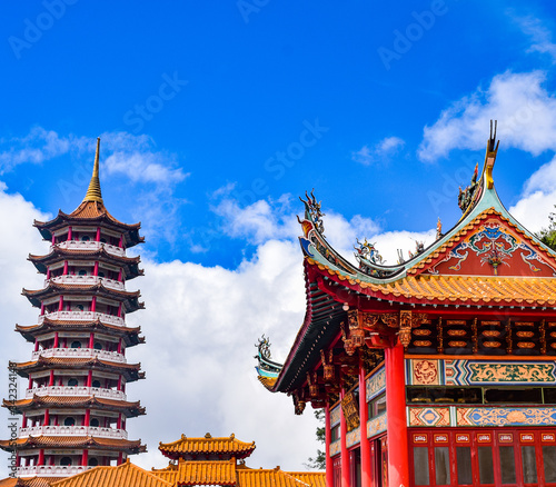 The Chin Swee Caves Temple is a Taoist temple in Genting Highlands, Pahang, Mala Fototapeta