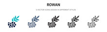 Rowan Icon In Filled, Thin Lin...