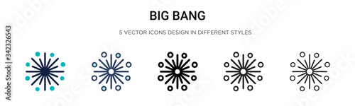 Big bang icon in filled, thin line, outline and stroke style Canvas Print